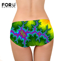 FORUDESIGNS 2017 New Arrival Briefs Women Underwears Plus Size S-XL Spandex Mid Waist Women's Panties Sexy Silky Soft Underwear