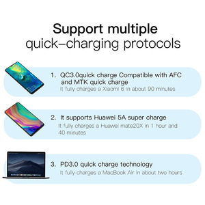 Image 5 - Baseus 30W Quick Charge 4.0 3.0 USB Charger for Xiaomi Supercharge Dual USB Type C PD 3.0 Fast Charger for iPhone X XS Huawei 5A
