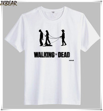 Hot-sale Funny Walking The Dead Print T Shirts for Men and Women Casual Short Sleeve O Neck Tee Big and Tall Plus Size S-3XL