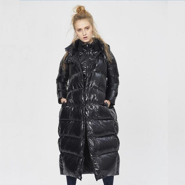 Alta Qualidade Para Baixo Parka Mulheres Jaqueta de Inverno 2016 de Pato Branco Para Baixo Parka Engrossar Quente Jaqueta 5XL Tamanho Mais Solto Para Baixo Casaco Feminino