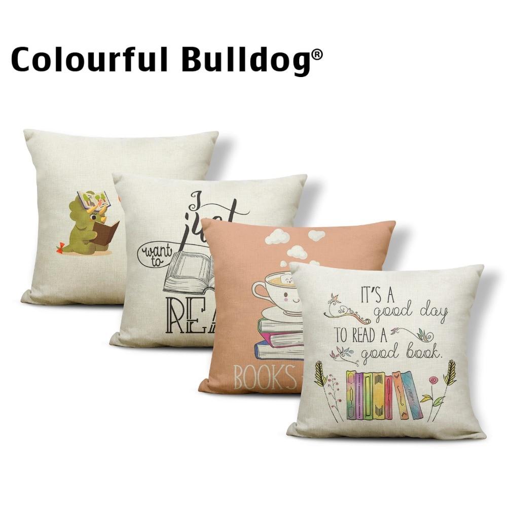 Plant Dinosaur Cushion Cover Flowers Pillows Rose Classic