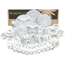 33pcs/lot Fondant Cake Molds 10Patterns Cookie Plunger Cutter Sugarcraft Printing Moulds Cake Decorating Supplies
