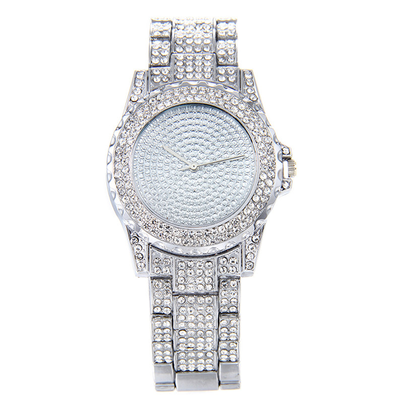 New Fashion Casual Ladies Watch Stainless Steel Bracelet Watch Women Crystal Diamond Quartz Wristwatch Clock Relogio Feminino new fashion unisex women wristwatch quartz watch sports casual silicone reloj gifts relogio feminino clock digital watch orange
