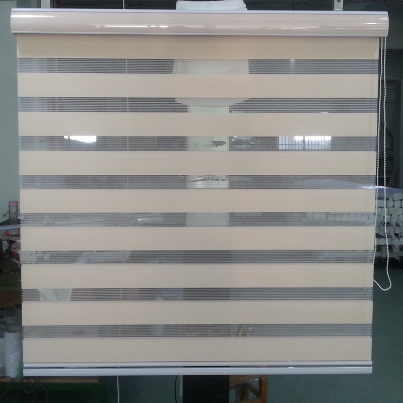 Popular Shade 100 Polyester Translucent Roller Zebra Blinds In Orange Window Curtains For Living Room