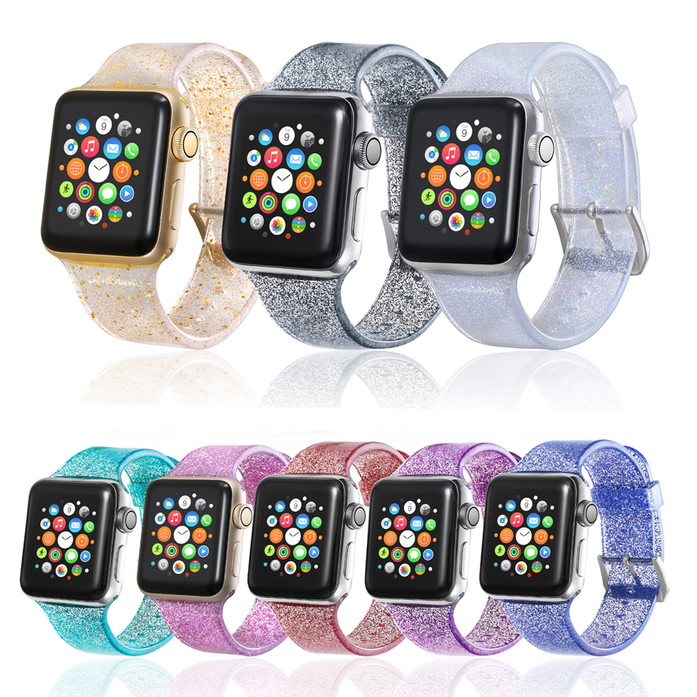 Silicone Straps For Apple Watch Bands 42mm 44mm 38mm 40mm Silcone For Apple Watch 4 3 2 1 Band Gold For IWatch Band 42mm Strap