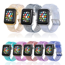 Silicone Straps for Apple Watch Bands 42mm 44mm 38mm 40mm Silcone for Apple Watch 4 3 2 1 Band Gold for iWatch Band 42mm Strap все цены