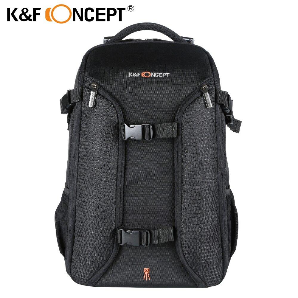 K & F CONCEPT étanche numérique DSLR Photo rembourré sac à dos w couverture de pluie ordinateur portable 15.6