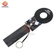 Металлоискатель электронный DIY Kit 18650 USB Мощность банк Зарядное устройство коробка DC 3 V-5 V 60 мм Бесконтактный Сенсор борту модуль детектор металла