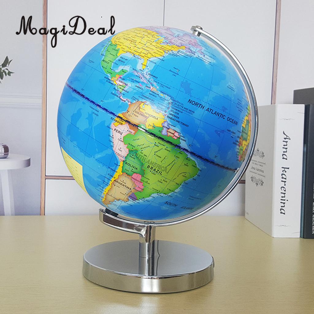 Carte Du Monde Jour Nuit.32 9 18 De Reduction Magideal 23 Cm Jour Vue Monde Globe Et Vue De Nuit Lumineux Constellation Carte Globe Pour La Maison Table Bureau