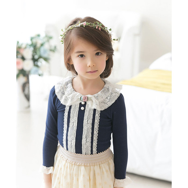 Baby Clothing Children O-Neck Royal Blue Long Sleeve T-Shirt Kid  Clothes Fashion all-match Casual Comfortable Full cotton 1