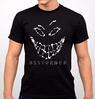 Disturbed Rock Band T Shirt Black New Summer T Shirt Brand Fitness Body Building Brand Clothes