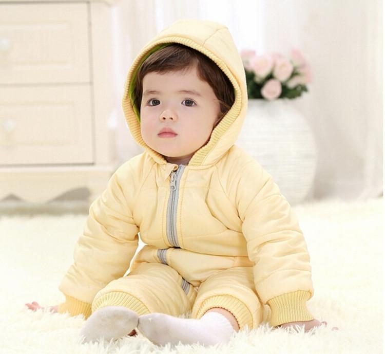 9-24Months Baby Winter Clothes Girl Boy Romper Warm Russian Baby Winter Jumpsuit Skiing Outerwear Clothing Colorful Snowsuit (21)