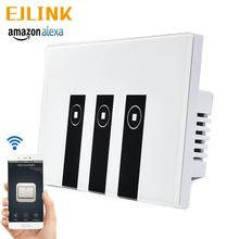 EJlink Wifi Smart Switch Works with Alexa Google Home Voice Control APP Remote Control Wall Touch Panel Switch wifi intelligent remote control touch switch alexa voice control app remote control smart switch