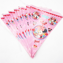 Minnie Mouse Banner Flag Cartoon Festival Theme Party Supplies For Kids Happy Birthday Decoration Baby Shower Favors