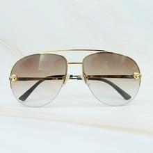 Metal Frame Sunglass Luxury Carter Leopard Serious Mens Sunglasses
