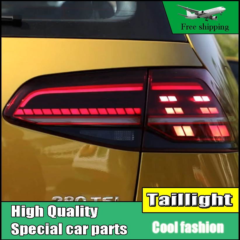 Car Styling Tail Lamp For Volkswagen VW Golf 7 MK7 2013-2016 LED TailLight Rear Light LED Brake+Park+Moving Turn Signal Lamp en car styling for vw golf 7 tail lights 2013 2015 golf7 mk7 led tail light gti r20 rear lamp led drl brake park signal