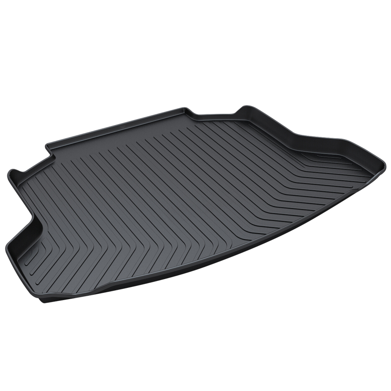 Trunk Tray Mat for Honda CRV,2008-2011,Premium Waterproof Anti-Slip Car in Heavy Duty,Black for honda jazz trunk tray mat premium waterproof anti slip car trunk carpet in heavy duty black