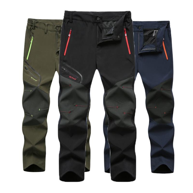 Men New Summer Hot Season Hiking Trekking Fishing Camping Climb Run Trousers Plus Size Oversized Waterproof Outdoor Pants
