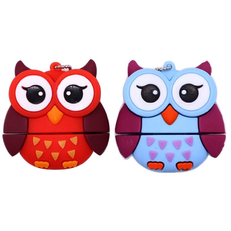 USB flash drive cartoon animals pen drive 4GB 8GB 16GB 32GB 64GB fox/bee/owl/penguin memory stick creative gift pendrive usb cle