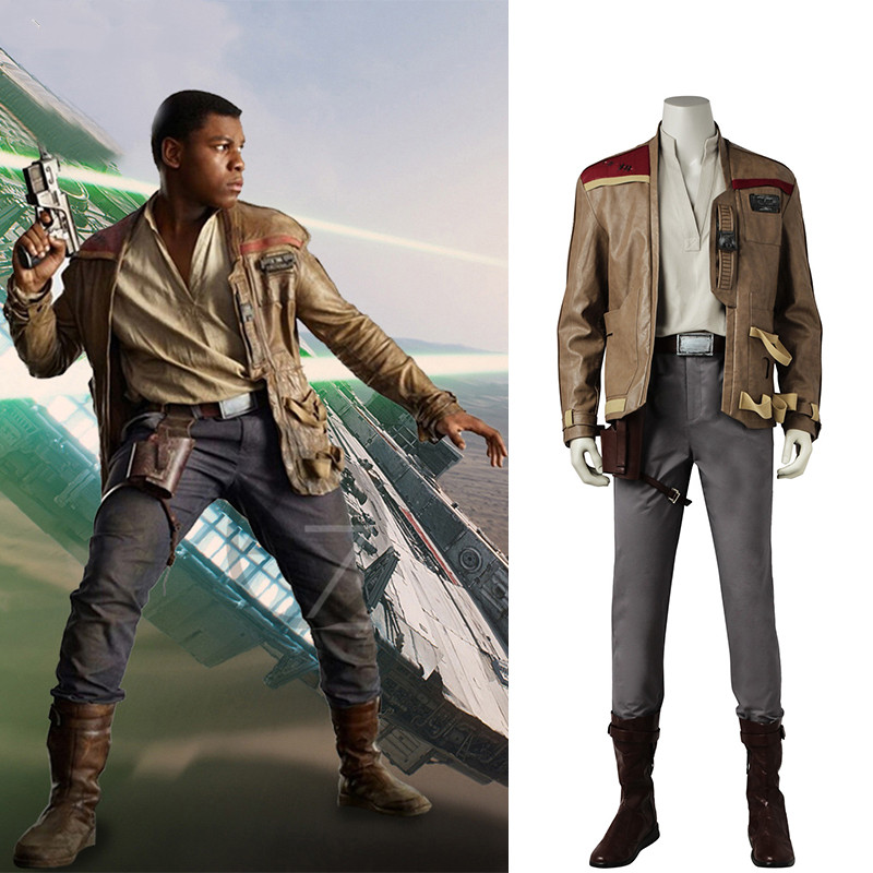 Finn Cosplay Star Wars The Last Jedi Costume Cosplay Movie Superhero Jacket Carnival Clothes Halloween Outfit Pants Boots