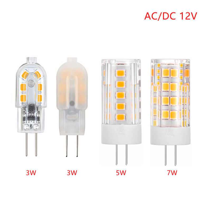 G4 LED Lamp Mini Dimmable 12V DC/AC 3W 5W 7W 9W 12W LED G4 LEDs Bulb Chandelier Light Super Bright G4 COB Silicone Bulbs Ampoule