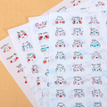 Creative PVC cool emoji stickers Cute daily expression fashion personality small transparent stickers child DIY toy 4sheets/set