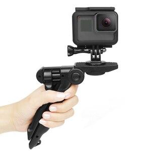 Image 4 - לירות מיני נייד חצובה Stand עבור GoPro גיבור 9 8 7 5 שחור 4 מושב Xiaomi יי 4K Sjcam eken Canon Nikon Sony DSLR אבזר
