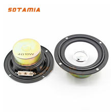 SOTAMIA 2Pcs 3 Inch Audio Portable Full Range Speakers 4 Ohm 10 W DIY Music Power Sound Mini Speaker Loudspeaker Home Theater(China)