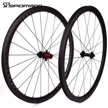SPOMANN 15K Weave Road Bicycle Straight Pull Wheelset 700C Carbon Clincher Wheels 35mm Depth Carbon Cycling 11 Speeds Wheel