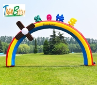ThanBetter Customized Rainbow Inflatable Arch, Arch Door, Archway Entrance For birthday Event Party Decoration
