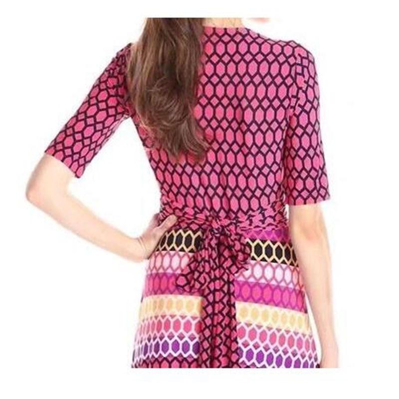 Femmes Urban Z D'automne 1 Casual De Multi Géométrique Tricot Slim Du Mode Extensible 304 Robe Wrap Amérique New Imprimé Europe gaCtIqpw0