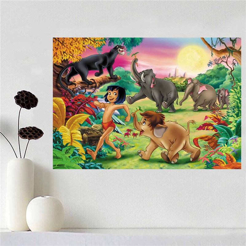 Custom canvas poster The Jungle Book poster cloth fabric wall poster print Silk Fabric Print SQ0511