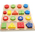 Children Educational 3D Wooden PuzzleToys Multifunction Baby Early Learning Wood  Shape Learn Toy Free shipping 1pcs