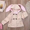 Chicas trench niños abrigo 2016 otoño primavera Sudaderas Con Capucha outwear niños chaquetas casuales estilo gris/de color caqui de invierno chaquetas