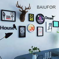 BAIUFOR European Stype Home Design Wooden Photo Frame Wall Decoration DIY Picture Frame Set Wall Quadro Picture Home Living Room