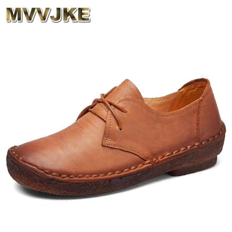 MVVJKE  Ocio Zapatos de Cuero suave Madre Femeninos Ocasionales de Calzado Breathable Flats Genuine Leather Shoes Comfortable lroom кресло madre