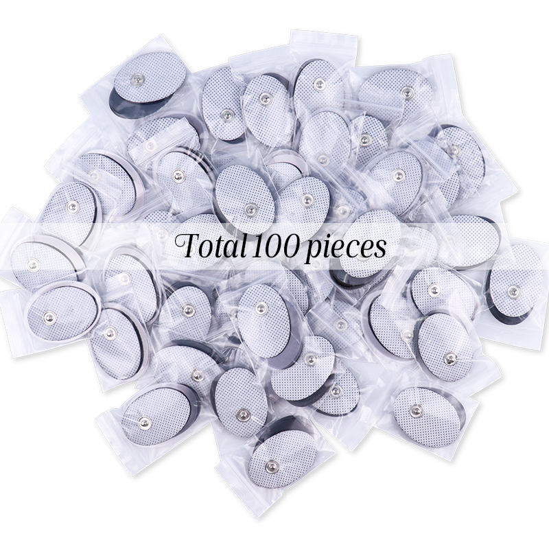 100pcs Self Adhesive Gel Tens Electrode Pad/Patch For Pulse Acupuncture Therapy Massager Electric Muscle Stimulator 3.5mm Plug
