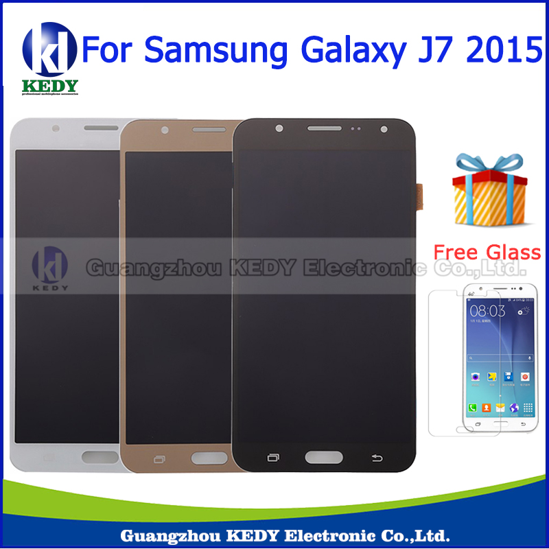 ФОТО High Quality For Samsung Galaxy J7 J700 J700F J700M J700H Lcd Display Touch Screen Digitizer Assembly Black White Gold