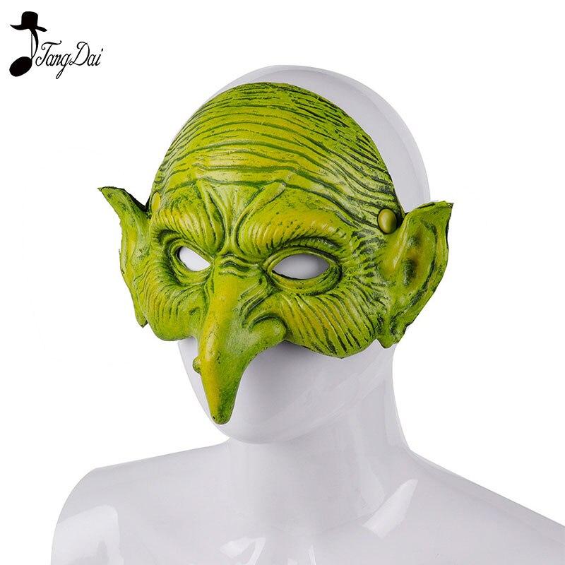 Halloween Mascaras Disfraces Carnival Festival Party 3D Soft Pu Foam Witcher Masquerade Crossdresser Green Goblin Mask