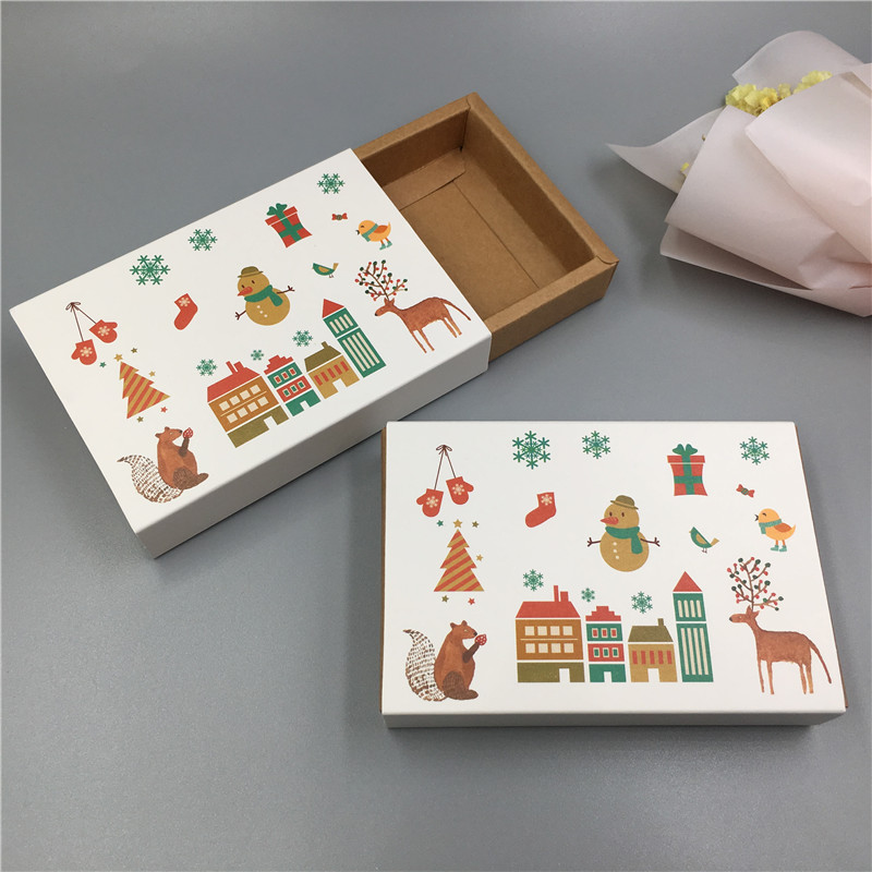 1pcs Drawer Style Vintage Kraft Cardboard Wedding Favor Box Gift Packaging Box For Candy/Chocolate/Cookie/Craft/Cake