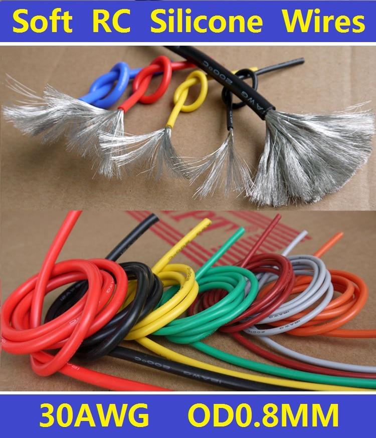 30AWG Flexible Weiche Verzinnt Kupfer Silikonkabel RC Kabel ...