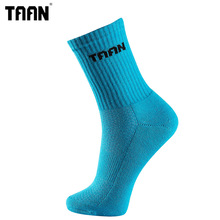 1 пара, брендовые толстые спортивные носки TAAN, Длинные мужские носки для велоспорта, баскетбола, 78% хлопок, профессиональные спортивные носки, чулки, T-353