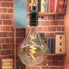 רטרו וינטג רך גמיש הוביל הנורה להט G125 ספירלת חוט להט תעשייתי ניתן לעמעום מנורת LED 4 W