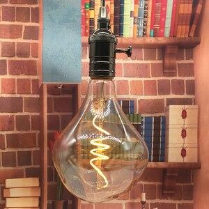 Image 1 - Retro Vintage suave flexible bombilla de filamento LED G125 Industrial regulable espiral lámpara de filamento LED 4W