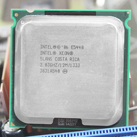 Original E5440 Processor 2 83GHz 12MB 1333MHz Quad Core CPU With Two 771 To 775 Adapters