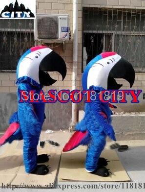 Маскоты 1 шт. синий крылатый Ара Маскоты костюм синий попугай Маскоты te карнавальный костюм маскарадный костюм Fit Бесплатная корабль sw1349
