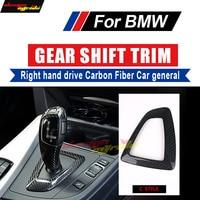 For BMW X5 X6 E70 E71 F15 16 Right hand drive Carbon Fiber car genneral Gear Shift Surround Cover Automobile decoration C Style