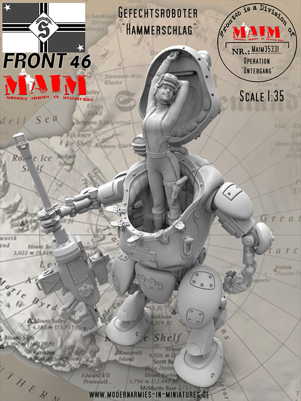 1/35 Resin Model Figures Kit Science Fiction Robot Unpainted 350D