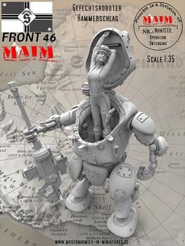Kit de figuras en miniatura de resina 1/35, robot de ciencia ficción sin pintar 350D