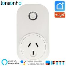 Lonsonho Smart Plug Wifi Socket 16A Power Monitor AU NZ Australia Argentina Tuya Life Works With Alexa Google Home